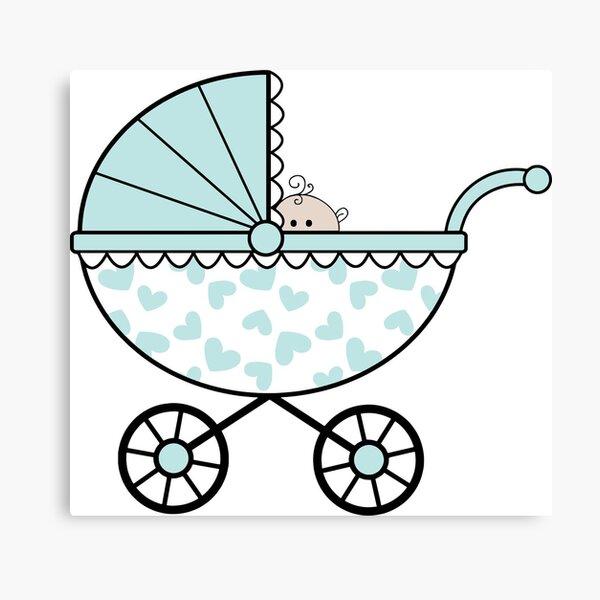 Boy Baby Carriage Canvas Print