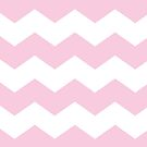 Baby Pink and White Chevron Print by itsjensworld