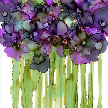 abstract art violets by Korinnec