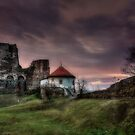 Castle of Levice at twilight by Roberto Pagani