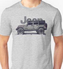 4dr JL Unlimited - Sting-Grey Unisex T-Shirt