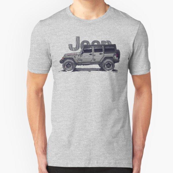 4dr JL Unlimited - Sting-Grey Slim Fit T-Shirt