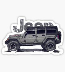 4dr JL Unlimited - Sting-Grey Sticker