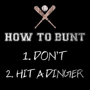 How to Bunt Funny Baseball Softball Gift Idea by throwbackgamer