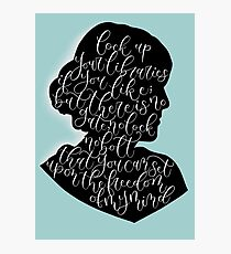 Virginia Woolf Quote and Silloette  Photographic Print