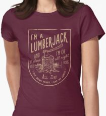 THE LUMBERJACK SONG Women's Fitted T-Shirt