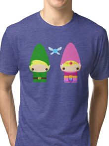Gnome Link and Zelda Tri-blend T-Shirt