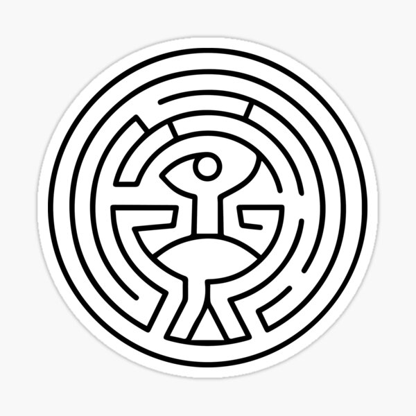 Westworld Maze Sticker