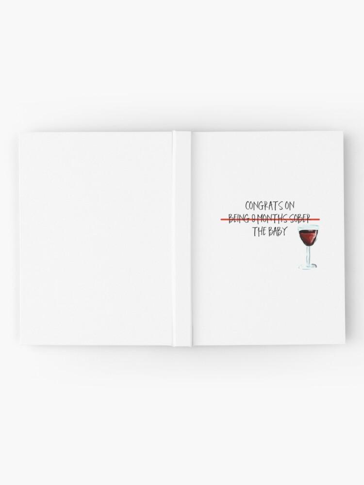 Alternative Ansicht von Neun Monate nüchtern Notizbuch