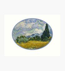 Art Wheat Field with Cypresses,Vincent van Gogh, 1889 Art Print