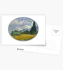 Art Wheat Field with Cypresses,Vincent van Gogh, 1889 Postcards