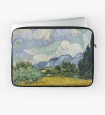 Art Wheat Field with Cypresses,Vincent van Gogh, 1889 Laptop Sleeve