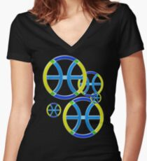 PISCIS SYMBOL Women's Fitted V-Neck T-Shirt