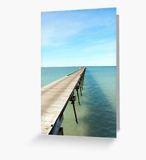 Beachport Jetty Greeting Card
