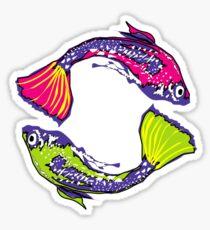 PISCIS GUPPIES TWO Sticker