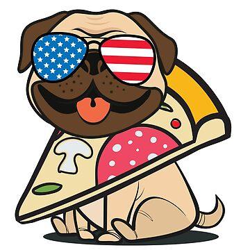 Pug Pizza USA by plushism