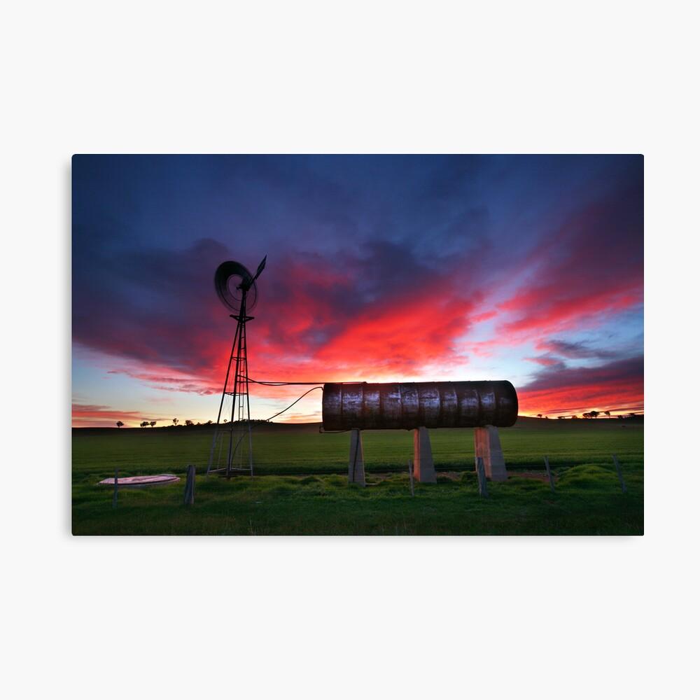 Windmill Sunrise, Central Victoria, Australia Canvas Print