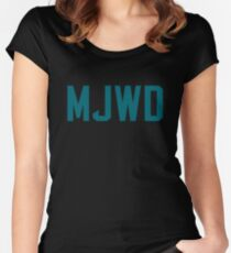 1144c893b Myles Jack Wasn t Down Women s Fitted Scoop T-Shirt