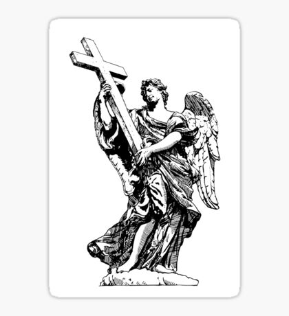 Saint Michael with the Cross Sticker
