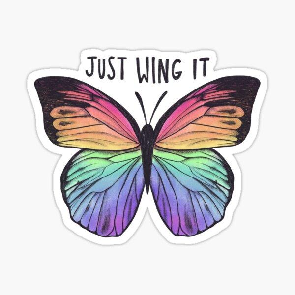 Just Wing It  Sticker