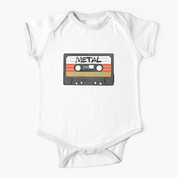 Heavy metal Music band logo Short Sleeve Baby One-Piece