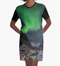 The Magic Of The Night Graphic T-Shirt Dress