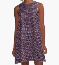 Endzone Pinstripe Blue and Orange A-Line Dress