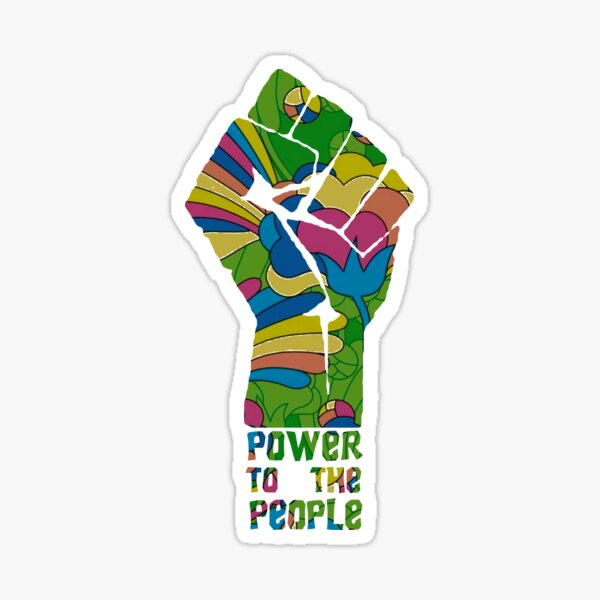 POWER TO THE PEOPLE - FLORAL Sticker