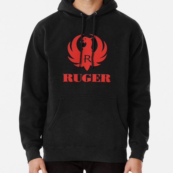 Ruger Red Logo Zip Up Hoodie Sweatshirt Pro Gun 2nd Amendment Rifle Pistol New