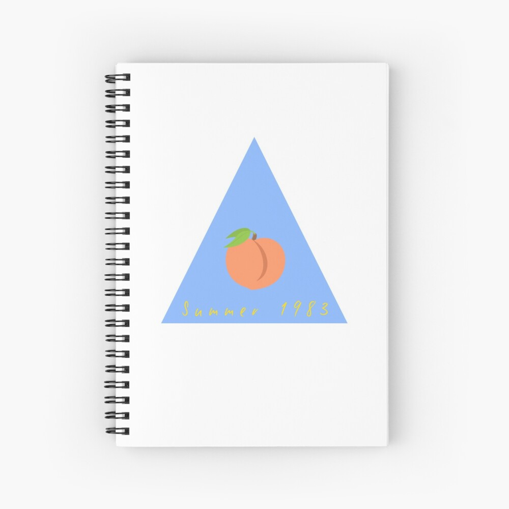 Summer 1983 - Peach - Call Me By Your Name Spiral Notebook