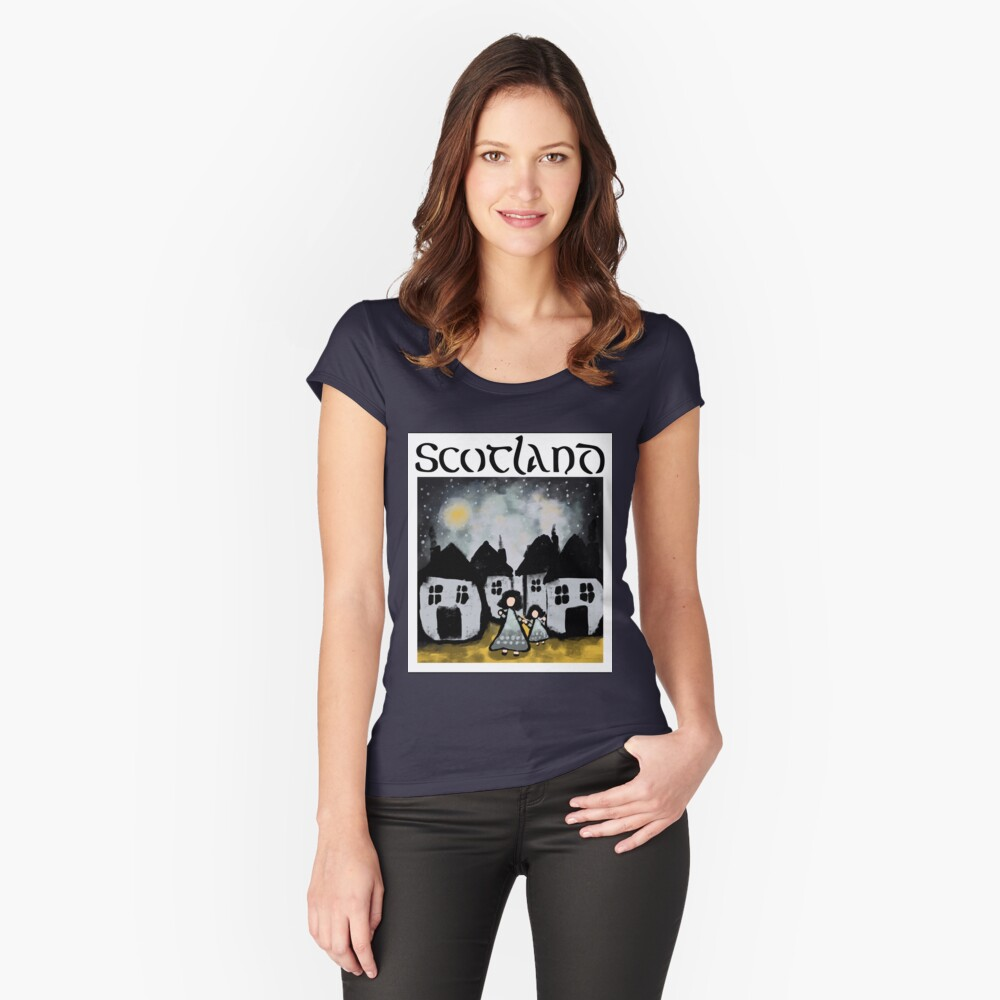 Scottish Girls Fitted Scoop T-Shirt