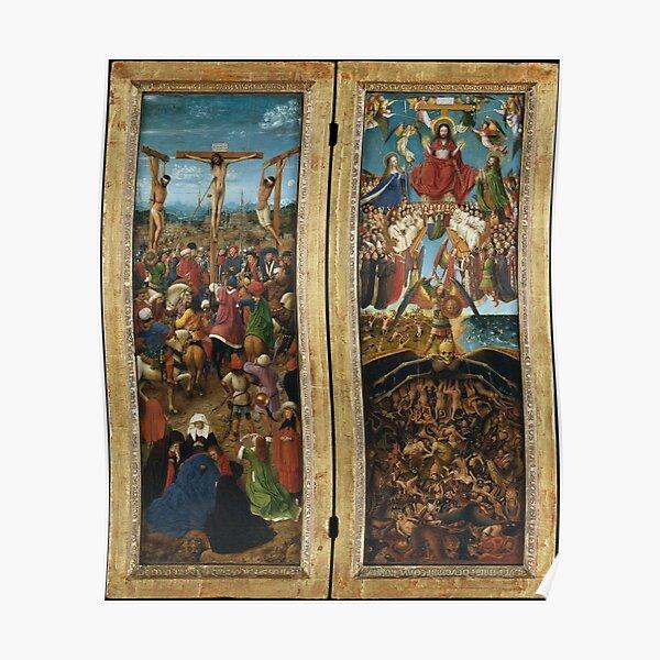 The Crucifixion; The Last Judgment Jan van Eyck Poster