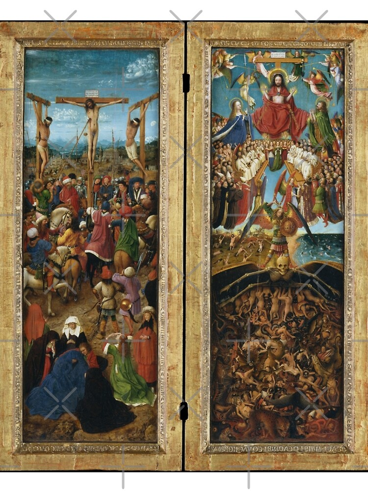 The Crucifixion; The Last Judgment Jan van Eyck by buythebook86