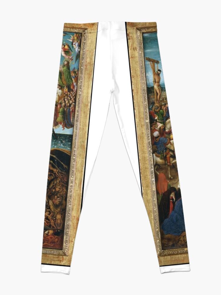 Alternate view of The Crucifixion; The Last Judgment Jan van Eyck Leggings