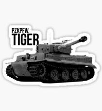 German WW2 Tiger Tank Sticker