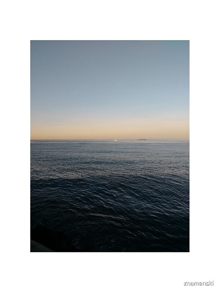 Sky, water, horizon, sea, ship, waves, island, glow, #Sky, #water, #horizon, #sea, #ship, #waves, #island, #glow by znamenski