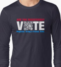 Vote QR Code Election Long Sleeve T-Shirt
