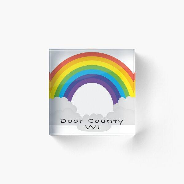 Door County Rainbow Acrylic Block