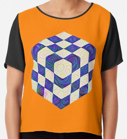 #DeepDream Color Squares Visual Areas 5x5K v1448964615 Chiffon Top