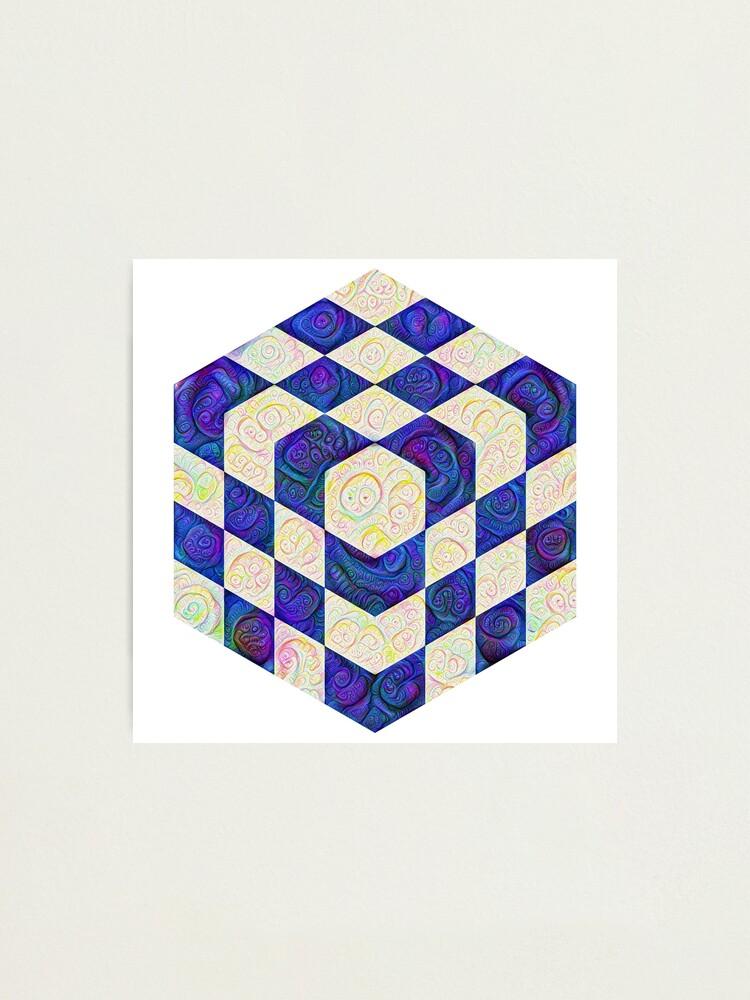 Alternate view of #DeepDream Color Squares Visual Areas 5x5K v1448964615 Photographic Print