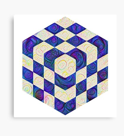 #DeepDream Color Squares Visual Areas 5x5K v1448964615 Canvas Print