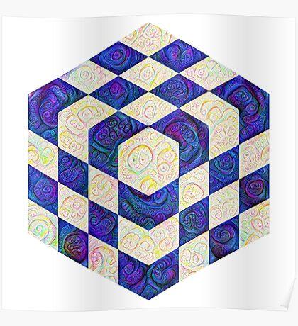 #DeepDream Color Squares Visual Areas 5x5K v1448964615 Poster