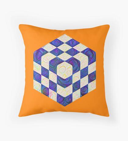 #DeepDream Color Squares Visual Areas 5x5K v1448964615 Throw Pillow