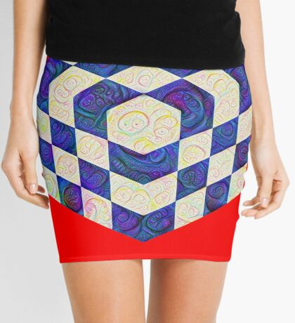 #DeepDream Color Squares Visual Areas 5x5K v1448964615 Mini Skirt