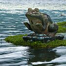 Statue at Pura Ulun Danu Bratan by Werner Padarin