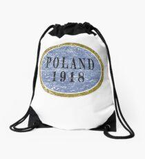 Vintage Poland Independence day Drawstring Bag