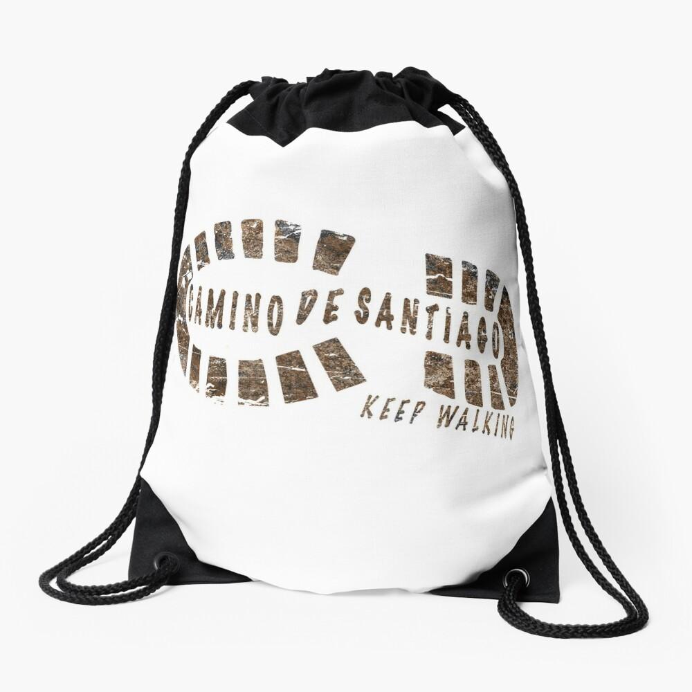 Camino de Santiago - Keep walking Drawstring Bag