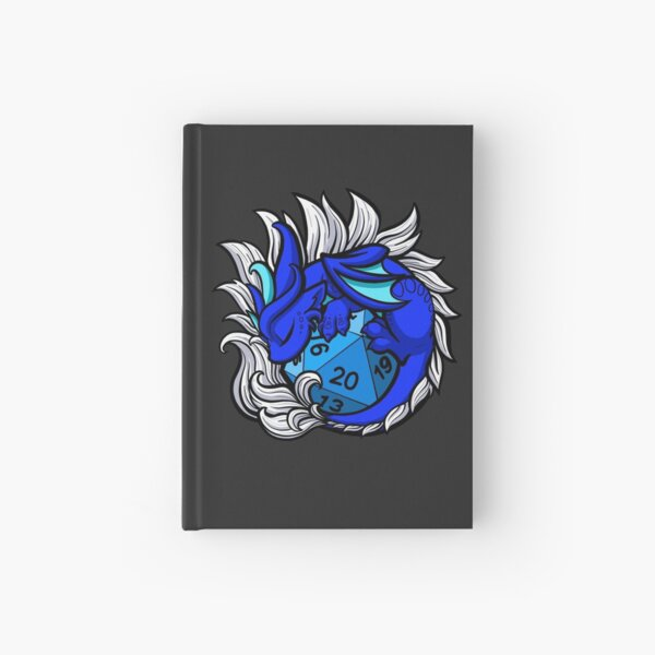 Sleeping Dice Dragon  Hardcover Journal