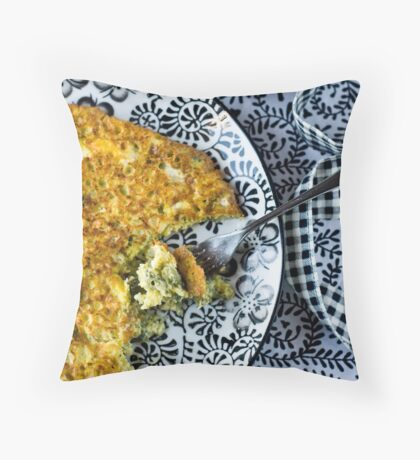 Frittata Throw Pillow
