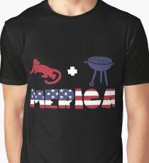 Cougar plus Barbeque Merica American Flag Camiseta gráfica